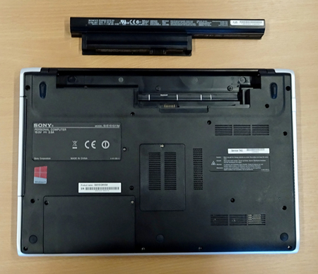 how to fix sony vaio laptop battery